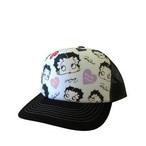 フリーサイズメッシュキャップホワイト&ブラック57野球帽ベティブープBettyBoopベティちゃん帽子