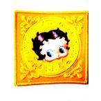 ビニール縫い付け式ワッペン黄色5ベティちゃんbettyboopベティブープアップリケ